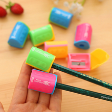 4pcs Mix Candy Colors Mini Pencil Sharpener Cutter Rolling Pen Knife Kids Children Student Stationery School Supplies(China)