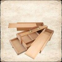 Портативный кейс Стиль Вуди станковой живописи аппаратными аксессуарами Многофункциональный чемодан для рисования товары для рукоделия х