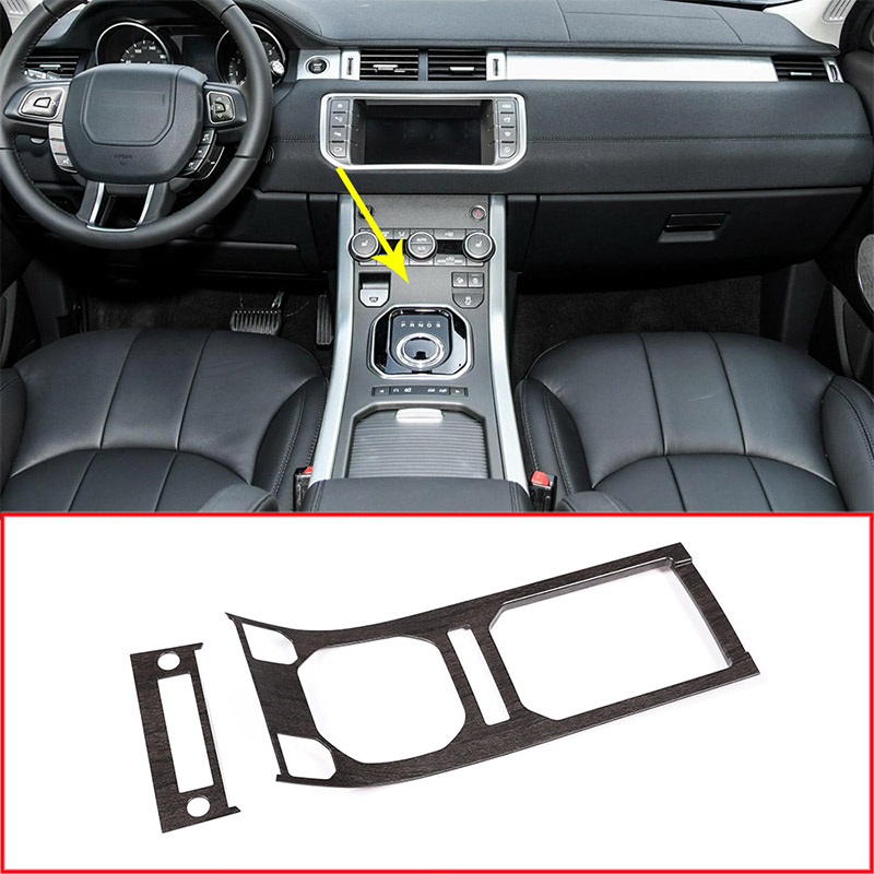 Oak Wood Style ABS Center Console Gear Panel Decorative Cover Trim For Land Rover Range Rover Evoque 2013-2017 Car Accessories newest for land rover range rover evoque abs center console gear panel chrome decorative cover trim car styling 2012 2017 page 9