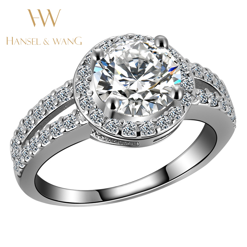 Wedding Engagement font b Ring b font Stainless Steel font b Ring b font CZ Diamond