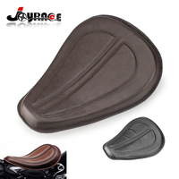 DHL Shipping Motorcycle PU Leather Solo Seat for Harley Sportster XL1200 XL883 48 2004 Black/Brown