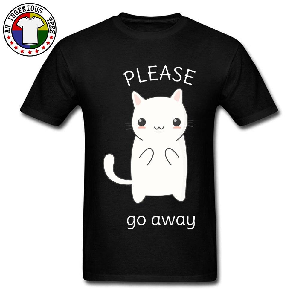 College Tourist T-Shirt Funny Kawaii Rude Cat Print Fashion T Shirt Slim Fitness No Pocket Design Tee Shirt For Young 2018 New