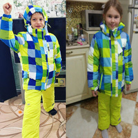 30 degree Children Girls clothing Sets Ski Jacket kids Waterproof Thick Outdoor Boys Clothes Warm Suits For Russian Winter coat