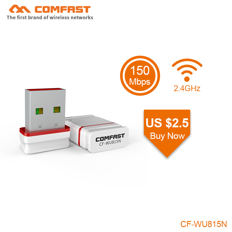 Free driver USB WiFi Adapter Mini Network Card 150Mbps Wi Fi Adapter PC Wi Fi Dongle soft AP 2 4G wps USB Ethernet WiFi Receiver in Network Cards from Computer Office
