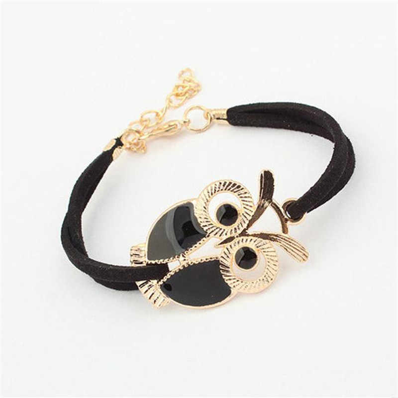 DoreenBeads 2016 Korean Fashion Owl Bracelets Bangles Pulseiras Summer Vintage Lovely Style Woman Girl Jewelry Gift 1 Piece