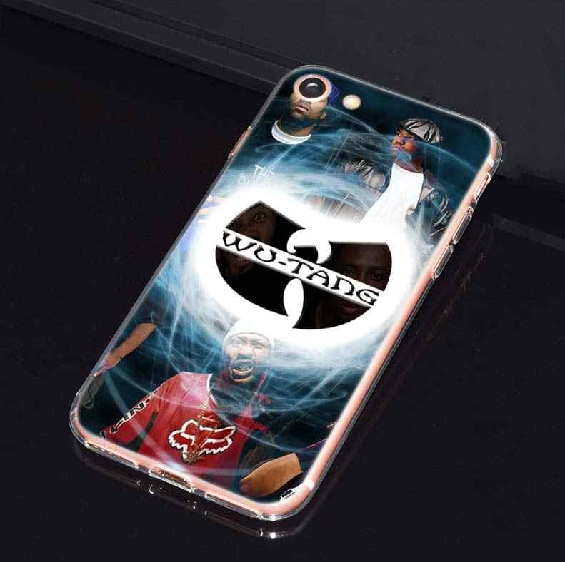 Wu Tang Clan хип-хоп чехол для iphone 5 5SE 5C 6 6 S 7 7 S 8 плюс X 10 силиконовый прозрачный мягкий ТПУ Капа Coque телефон оболочка Крышка