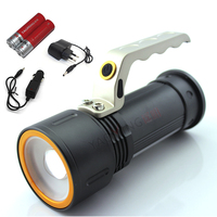 Led hand lamp light 2000LM CREE Q5 3 mode powerful flashlight torch rechargeable lantern camping spotlight + 2 x 18650 + charger