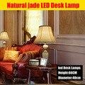 Luxo Natural de liga de zinco Led lâmpada de mesa moderna de cristal lâmpada de mesa lâmpada decoração de mesa lâmpada para quarto