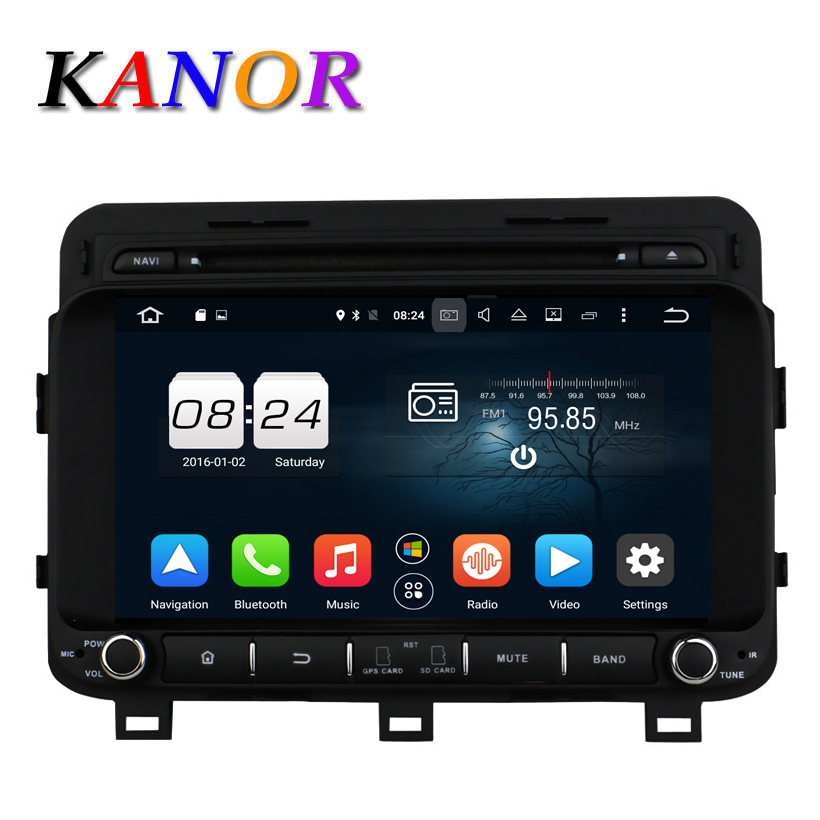 KANOR 1024 600 Android 6 0 car dvd gps For KIA K5 2014 2015 Autoradio 4G
