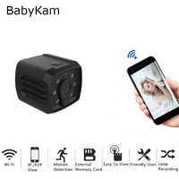BabyKam Mini WiFi IP Camera HD 1080P P2P Micro Camera IR Night Vision Video Recorder Remote