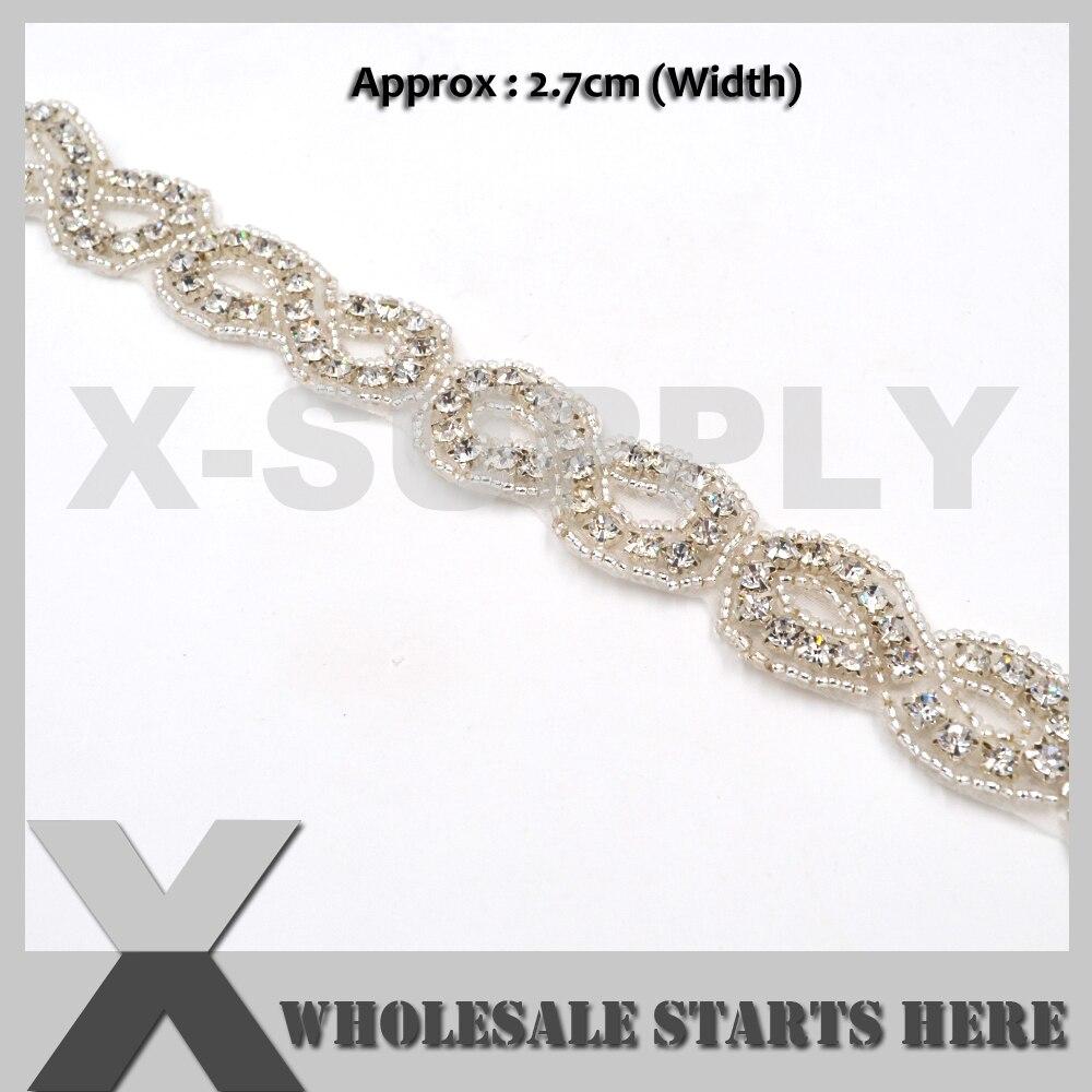 Luxury Crystal Embroidered Beaded Bridal Sash For Wedding Dress Sash Belt,Party Dress,Curtains