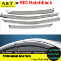 car styling Window Visors For KIA K2 RIO Hatchback 2012 2013 2014 Sun Rain Shield Stickers Covers Car - Styling Awnings Shelters