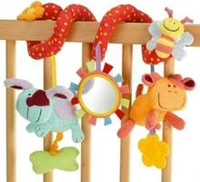 Cute Baby Rattles Toys Animal Plush Toy Super Soft Multifunctional Bed Crib Hangings Kids Toy For
