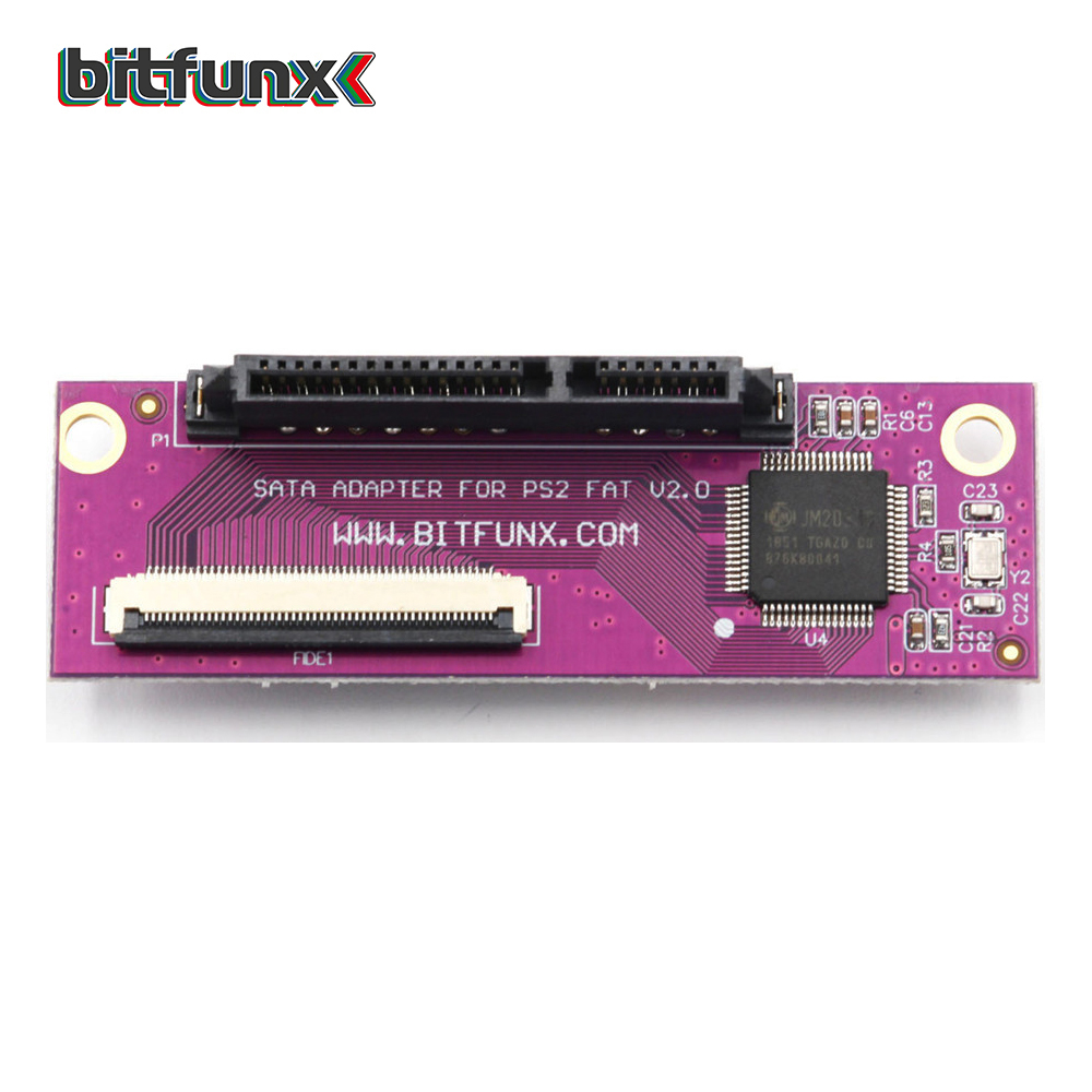 Bitfunx SATA Adapter Upgrade Board For SONY Playstation 2 PS2 IDE Original Network Adapter