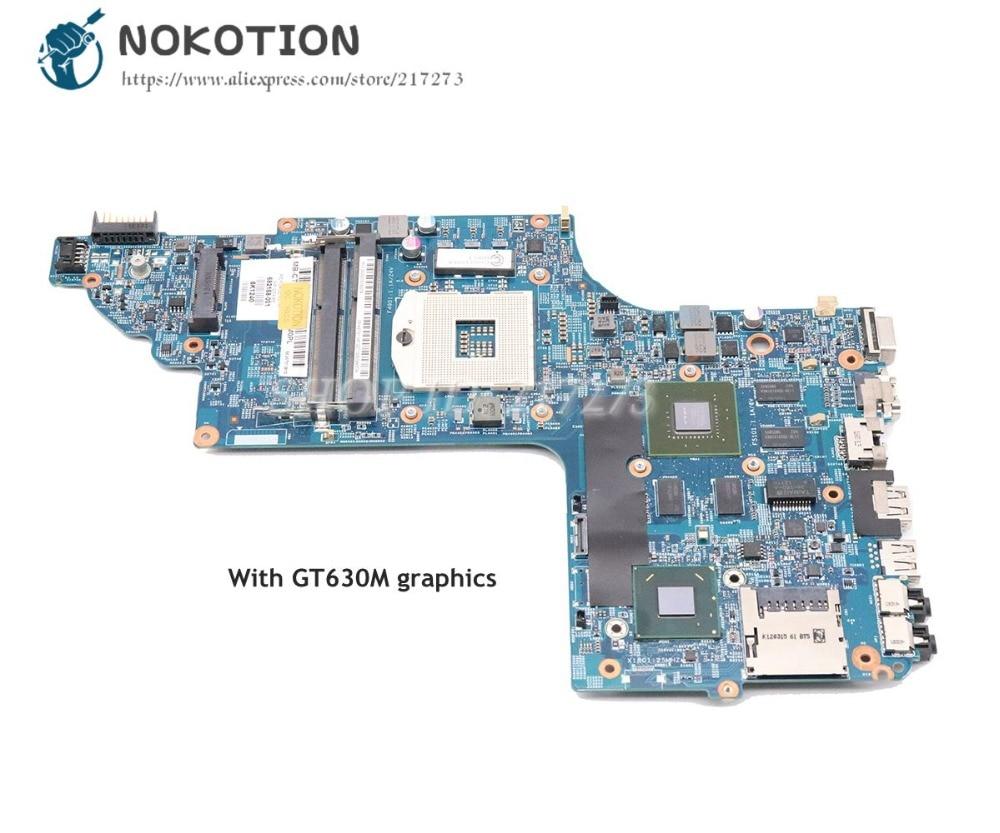 NOKOTION 682168-001 682170-001 For HP Pavilion DV6-7008TX DV6-7030TX DV6-7000 Laptop Motherboard HM77 DDR3 GT630M 1GB