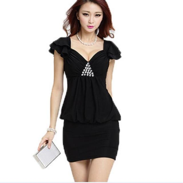 43c65ab1f012 2015 Free Shipping Summer Style New Design OL Uniforms Short Sleeves Skirt  Suits Women V Neck