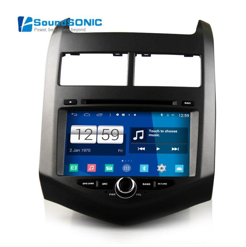 Autoradio GPS Navi lecteur multimédia Quad Core Android 4.4 pour Chevrolet Aveo Sonic pour Holden Barina DVD Bluetooth lien miroir