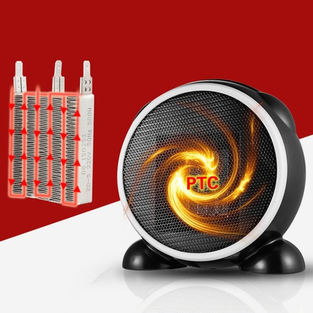 Small Desktop Heater Mini Portable Personal Space Electric Heaters