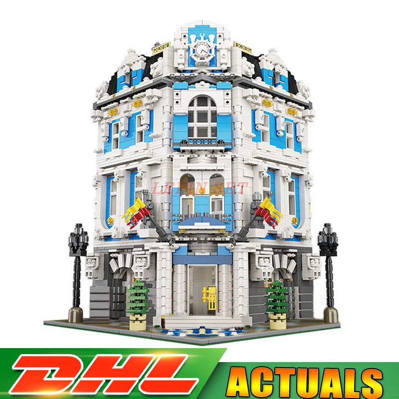 2018 New 3196pcs Lepin 15018 MOC City Series The Sunshine Hotel Set Building Blocks Bricks Educational Toys lepin 15018 3196pcs creator city series sunshine hotel model building kits brick toy compatible christmas gifts
