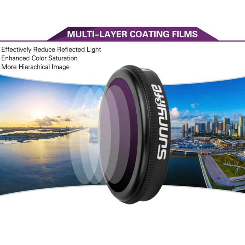 4 in 1 Varied Sunnylife ND-PL Camera Lens Filter Set for DJI MAVIC 2 Zoom Drone Accessory Camera Photo Lens Accessories 7