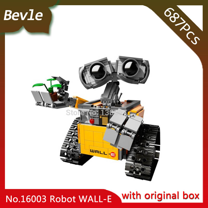 Bevle Store LEPIN 16003 687Pcs with original box Movie Series Idea Robot WALL E Model Building Blocks set Bricks Toys 21303 bevle store lepin 22001 4695pcs with original box movie series pirate ship building blocks bricks for children toys 10210 gift