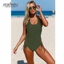 Sexy Lace up One Pieces Swimsuit Women Side Accent Open Monokini Padded Swimwear Bangdage Swim Suit Plus size XXL