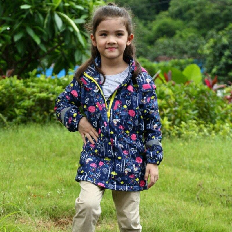 Waterproof Windproof Girls Coat Hooded Children Jacket Outwear For Spring Autumn Winter 3-12 Years Windbreaker KF231