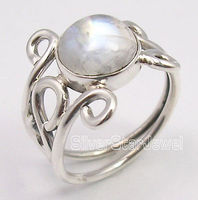 Pure Silver Exclusive RAINBOW MOONSTONE Gem URBAN STYLE Ring Any Size UK US