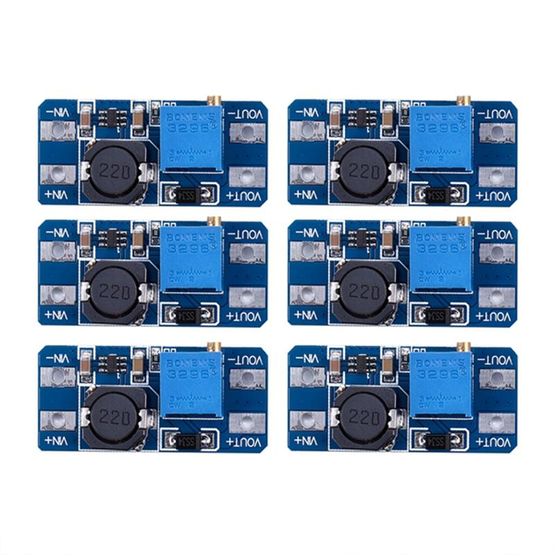 6pcs MT3608 DC 2A Step Up Power Booster Module 2v-24v Boost Converter for Arduino