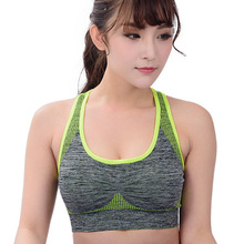 2016 Sexy Women Sports Bra Breathable Professional Fitness Running Gym Bra Quick Dry Underwear Shockproof Push Up Seamless Tops