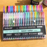 48 Colors Set Colored Gel Pen Highlighter Flash Pen Cute Glitter Color Pens Drawing School Stationary Stylos Kids Coloring Gifts