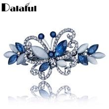Opals Crystal Butterfly Rhinestone Hair clip Barrette Hairpin Headwear Accessories Hair Jewelry For Woman Girls Wedding F134
