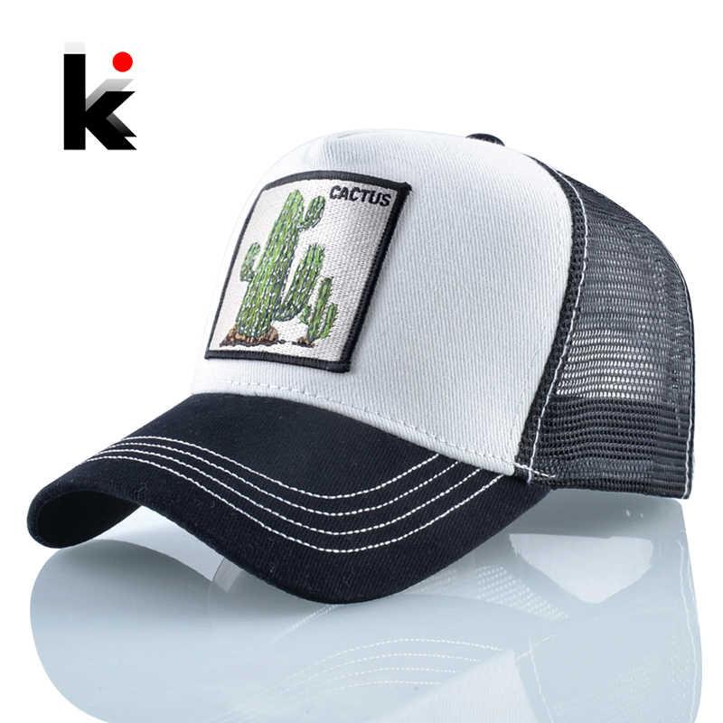 المرأة قبعات البيسبول الصيف تنفس شبكة القبعات الرجال الصبار كاب سناب باك مطرز في الهواء الطلق قبعة بواقٍ للشمس الشارع الشهير الهيب هوب العظام