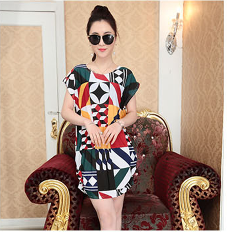 2018 New summer clothing maternity clothes Pregnant women dress printed loose t-shirt maternity dresses