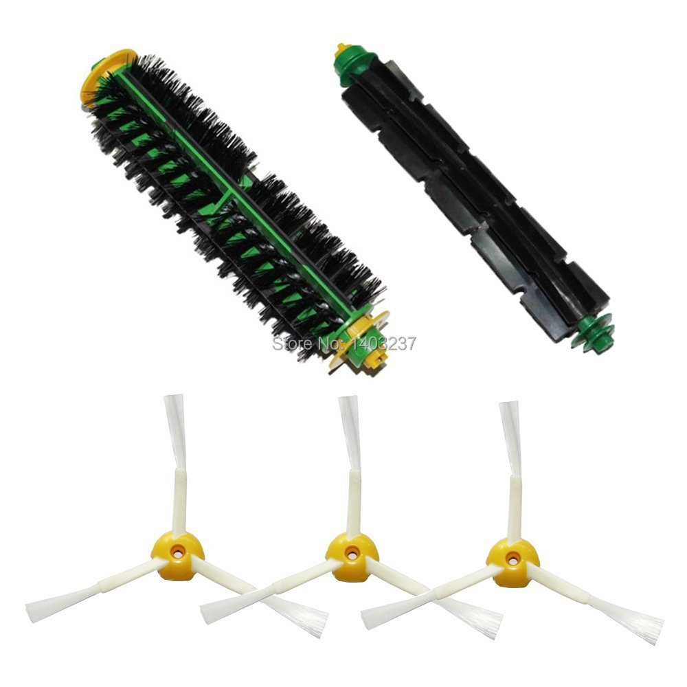 Bristle Brush Flexible Beater Brush 3 x 3-armed Side Brush for iRobot Roomba 500 Series 510 530 535 540 550 560 570 580 610 ntnt free post new 2 x flexible beater brush for irobot roomba 500 series 550 560 570 580 510 530