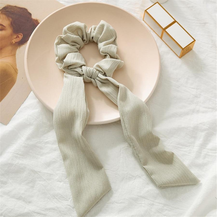 Богемные резинки для волос в горошек с цветочным принтом и бантом, женские эластичные резинки для волос, повязка-шарф, резинки для волос, аксессуары для волос для девочек - Цвет: B1
