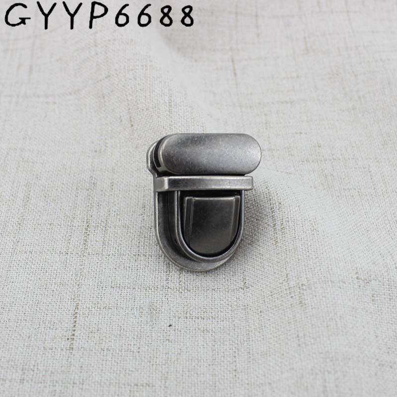 2sets Old Silver Lock Clasp Turn Tuck Lock  Handbag Bag Purse Genuine Leather Trunk Lock Twist Lock Metal Hardware For DIY