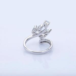 Image 4 - Klejnot balet naturalne niebo niebieski topaz oryginalna 925 sterling Silver pierścienie kwiatowe dla kobiet rocznica biżuterii prezent