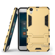 Per Huawei Honor 5A Caso 5.5 pollici Dual Layer Hybrid Rugged armatura Dura del PC + TPU Antiurto Con Kickstand Custodia Per Huawei Honor 5A(China)