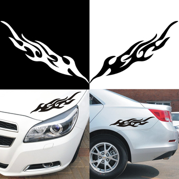 2pcs Universal Car Sticker Styling Engine Hood Motorcycle Decal Decor Mural Vinyl Covers Auto Flame Fire Sticker Car-styling image
