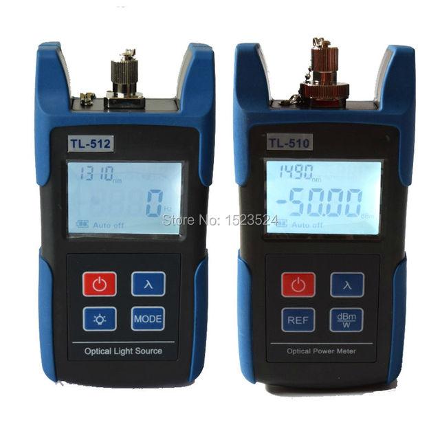 Ftth multímetro óptico TL510C medidor de potencia óptica TL512 1310 / 1550nm luz fuente de láser fuente