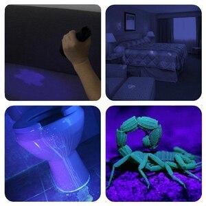 Image 5 - LED צלילה עמיד למים LED צלילה פנס 5L2 5UV פלאש אור פנס לפיד 200M מתחת למים סגול לבן אור אולטרה סגול
