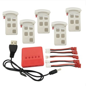 Image 3 - New aircraft 5PCS lithium battery shells and 5 in 1 charger for SYMA X5UW X5UC remote control helicopter battery accessories