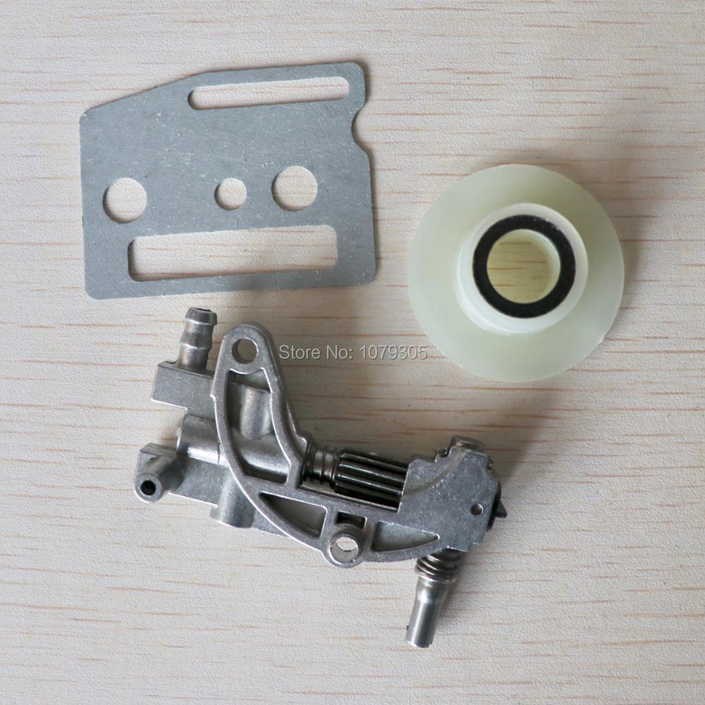 Pompe à huile de tronçonneuse avec joint de vis sans fin pour 4500 5200 5800 45CC 52CC 58CC 2 temps tronçonneuse à essence