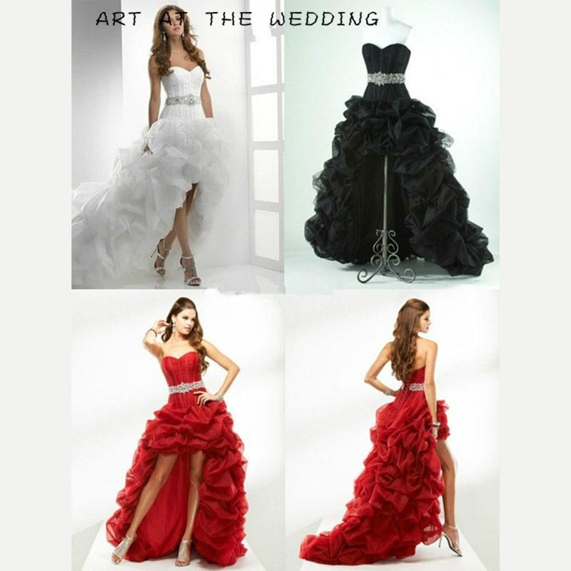 Promotion Vestido De Noiva 2019 nouveau Noble Sexy. Rétro élégant poignée moulée poitrine asymétrie brosse hors queue cérémonie de mariage