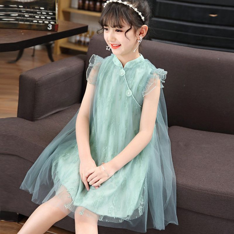 Children Dress China Retro Styles Formal Clothes Kids teenage girls clothing  Dress Girls Clothes Costume Lace Outfits 9 10 11 12