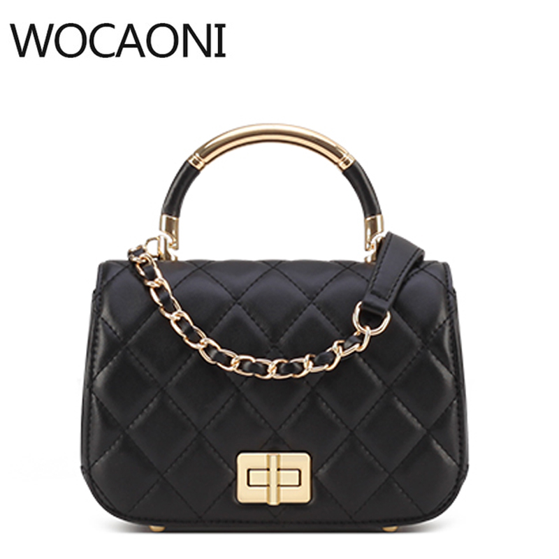 Handbag Flap Luxury Brand Leather Women 2018 Famous Star Crossbody Bags Chains Shoulder Bag High Quality Square Ladies Bag famous brand women bag design classic hollow out lace real leather shoulder bag ladies party handbag luxury crossbody bags