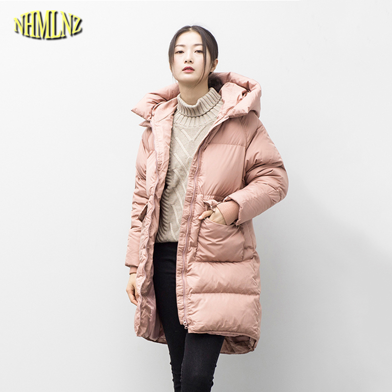2017 High quality Women Winter Cotton coat New Korean style Medium long Jacket Fashion Thicker Warm Loose Female Outerwear WK347