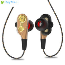 Consumer Electronics - Portable Audio  - GutsyMan 3.5mm Jack Sport Super Bass Earphone Stereo Headset Clear Sound Earpiece With Mic Music Earphone For All Phone Computer