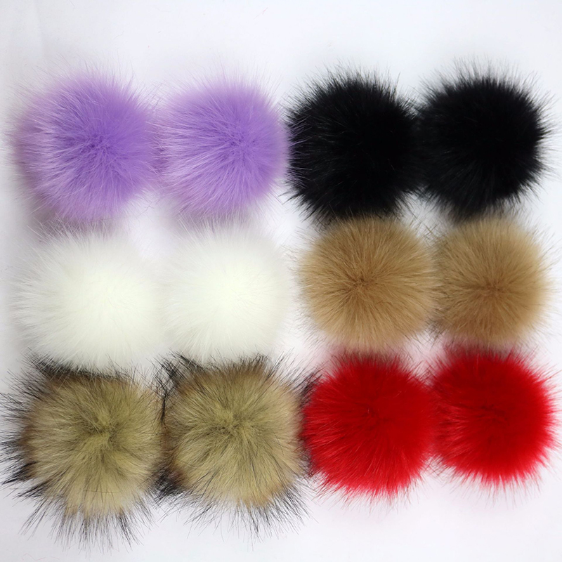 Factory Outlet 1PCS Multicolor False Hairball Hat Ball Pom Pom Handmade DIY Artificial Fox Ball Wholesale PomPom With Buckle